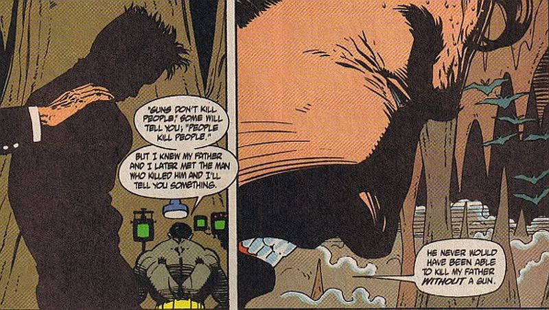 It's so much simpler in comic books.