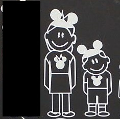 "It shouldn't surprise me that the STBX removed the  Disney ""Dad"" sticker from the back of her car; but it was a weird sight nonetheless"