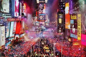 New Year's Eve from the center of the universe, Times Square